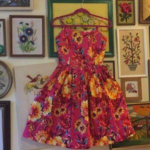 Bold floral print Isaac Mizrahi Dress